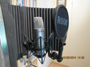 Opstelling zangmicrofoon voor opname (0)